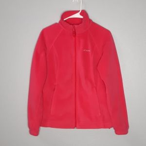 Columbia Bright Pink Fleece Zipup Jacket